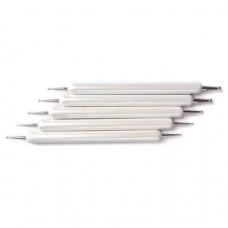 Инструмент за точки комплект бял седеф 5бр.