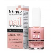 Nail Tek - Заздравител за нокти с биотин и бамбук – 5 в 1 - 14 мл.