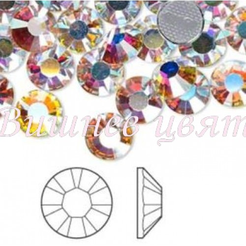 Swarovski дек. камъни хамелеон кристал /Iridescent/ss3-1,3мм.
