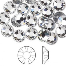 Swarovski 100pcs дек. камъни прозрачен кристал /Crystal/ss3-1,3мм.