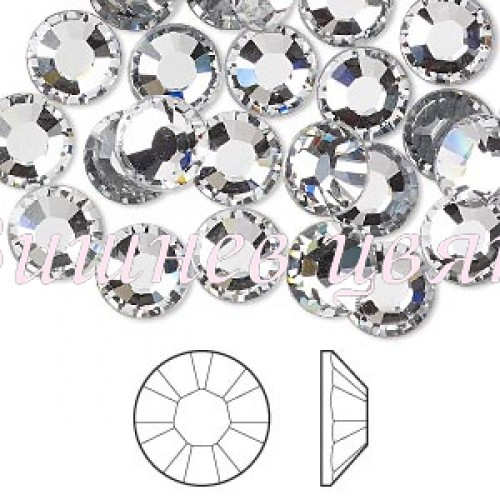 Swarovski дек. камъни прозрачен кристал /Crystal/ss3-1,3мм.