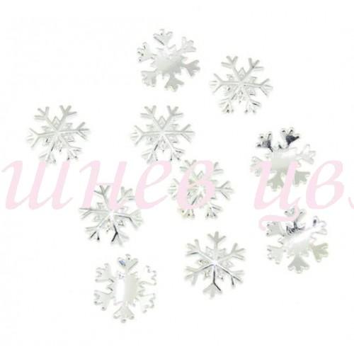 Коледни декорации 3D сребърна снежинка