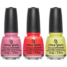 China Glaze® Lite Brites 2016 лятна колекция сет от 3 цвята
