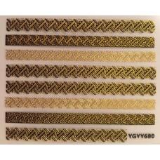3D стикер за нокти злато 680