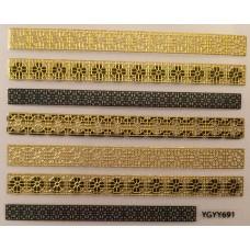 3D стикер за нокти злато 691