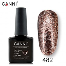 Canni Platinum брокатен гел лак-482
