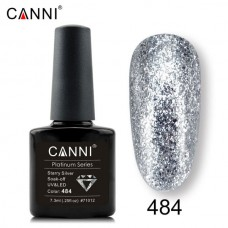 Canni Platinum брокатен гел лак-484