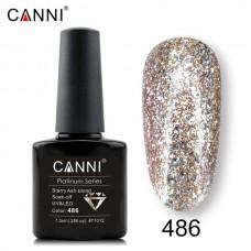 Canni Platinum брокатен гел лак-486