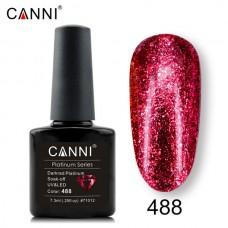 Canni Platinum брокатен гел лак-488
