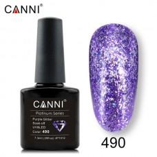 Canni Platinum брокатен гел лак-490