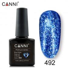 Canni Platinum брокатен гел лак-492