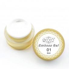 Emboss gel-Релефен гел за декорация-бял