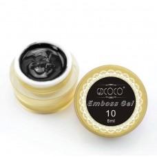 Emboss gel-Релефен гел за декорация-черен