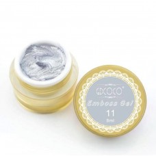 Emboss gel-Релефен гел за декорация-сребро