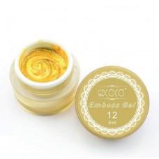 Emboss gel-Релефен гел за декорация-златен