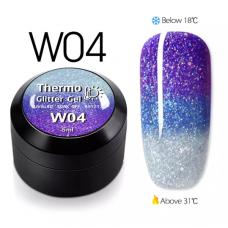 Гел боичка Thermo Glitter Gel - W04