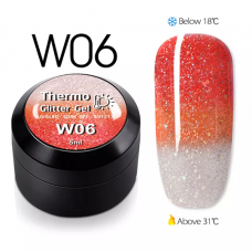 Гел боичка Thermo Glitter Gel - W06