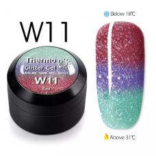 Гел боичка Thermo Glitter Gel - W11