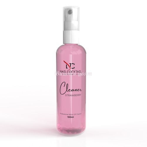 Nail Cocktail Boutique Cleaner – Oбезмаслител, Strawberry 100 ml