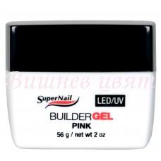 Super Nail - LED/UV розов гел за изграждане - 56 гр.